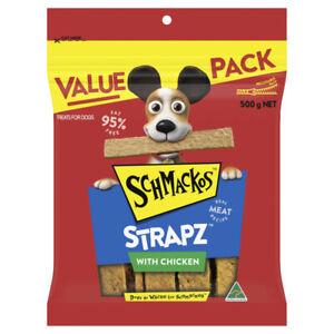 Schmackos Strapz With Chicken Dog Treats 500g
