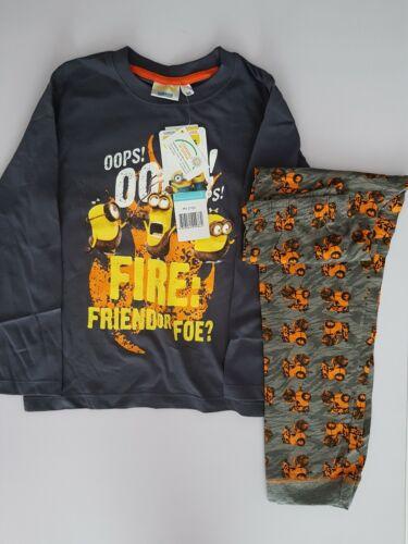 Minion Long-sleeve Pyjamas Kids Children/'s Boys Age 6 Official