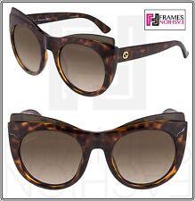 cf5a43f2ec0 GUCCI GG3781S Oversized Cat Eye Brown Havana Sunglasses Gradient 3781 Optyl
