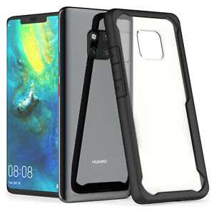 uk availability e4dc0 9da3f Details about Huawei Mate 20 Pro Case, Premium Protection Best Silicone TPU  Hybrid Cover Clear