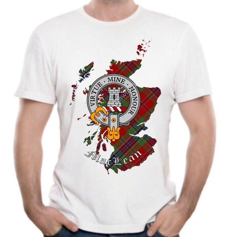 MacLean Clan T-Shirt - Scottish Heritage Clothing - Scotland Cotton Tee