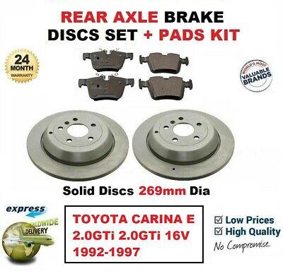 Pour Toyota Carina E Disques De Frein /& Plaquettes De Frein Avant Neuf