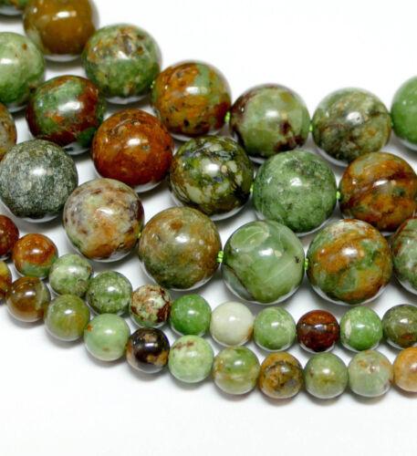 1 Strang BACATUS Edelsteine #4283 Opal Perlen grün braun glanz 4-10 mm