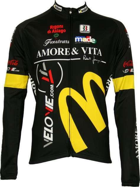 Amore & Vita Biemme Radsport-Profi-Team - Langarmtrikot
