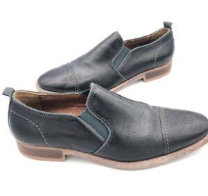 J-amp-M-Johnston-and-Murphy-Men-s-Sz-10M-US-Leather-Slip-On-Dress-Shoes-Black-Brown
