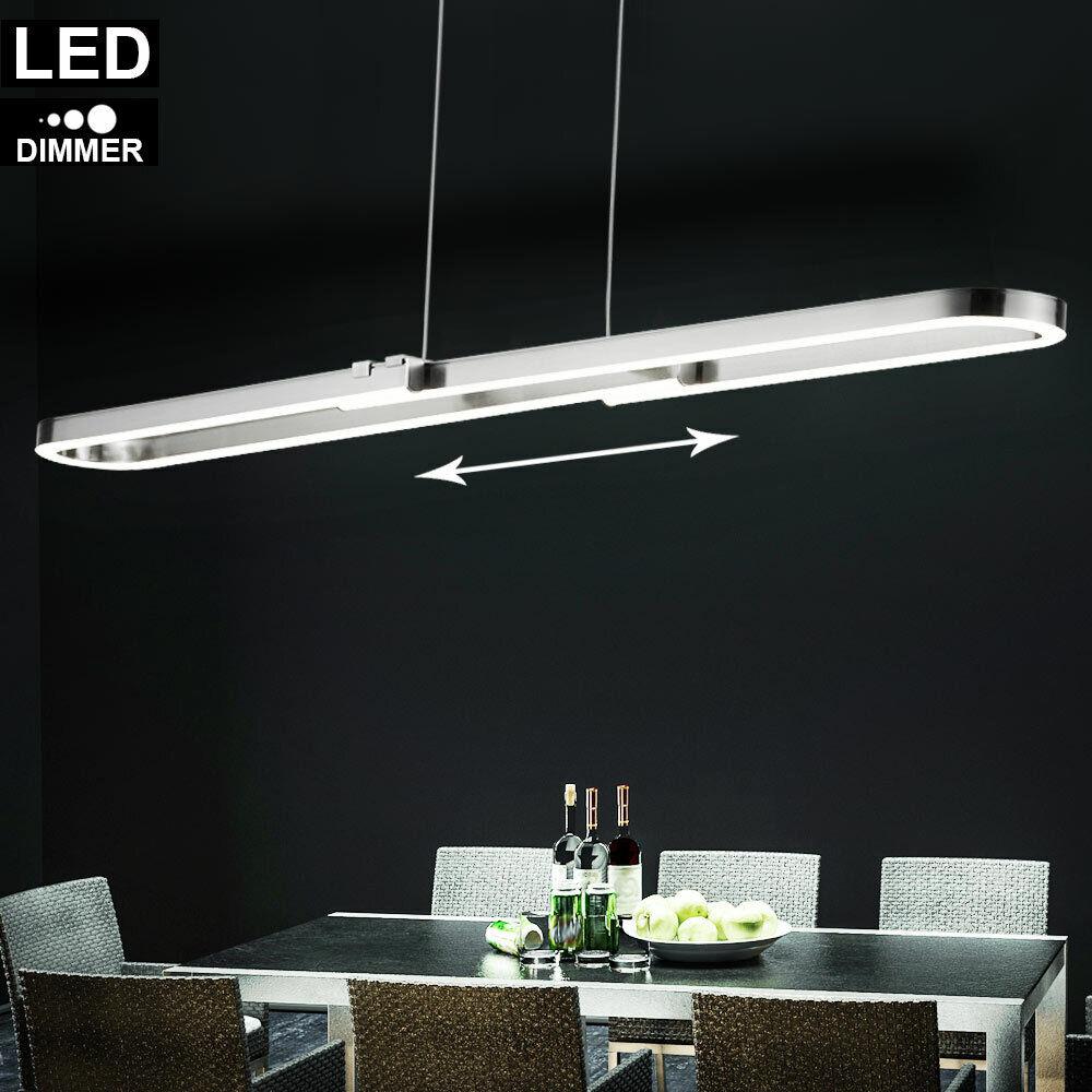 LED Decken Leuchte Switch Dimmer Arbeits Ess Zimmer Pendel Lampe Hänge Strahler