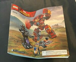 LEGO Marvel Super heroes hulk buster 76104 Building INSTRUCTION MANUAL ONLY
