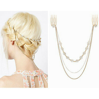 Nice Women Flower Shape Multilayer Head Hair Band Accessories Hairpin Jewelry