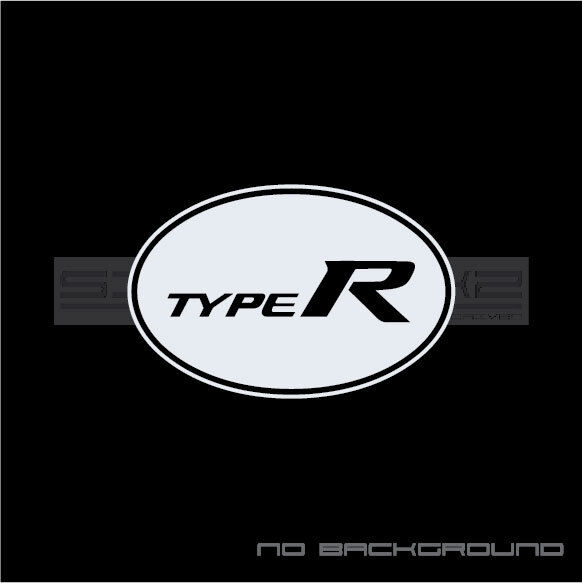 Type R Decal Sticker Logo FK8 Honda Acura Integra Civic