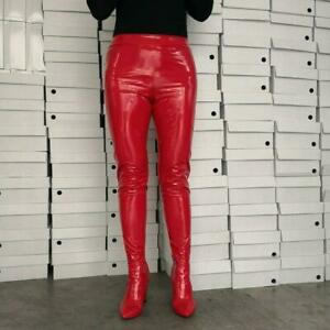 Lady-Pants-Boots-Chunk-High-Heels-Two-In-One-Pants-Shoes-Knee-Thigh-High-Boots