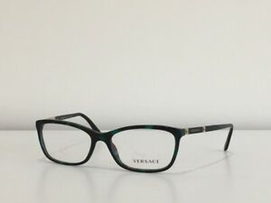 ff8129fccc0 2 Versace 3186 5076 Rectangle Green Havana Eyeglasses Optical Frame ...