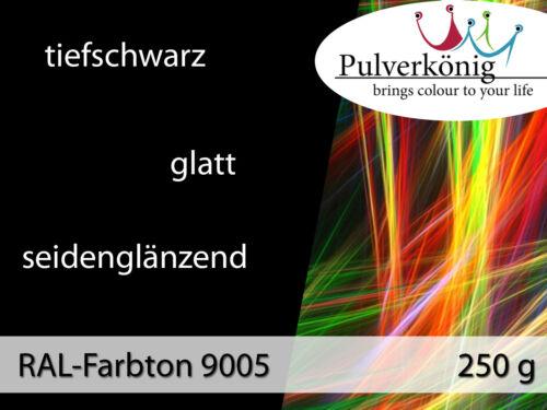 Pulverlack RAL 9005 Tiefschwarz Seidenglänzend 250 g