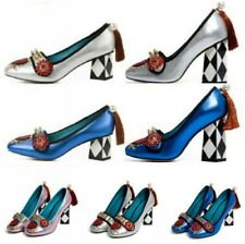 Womens Block High Heels Rivet Stitching Rhinestones Pumps Party Clubwear Shoes
