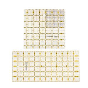 2pcs-Square-Rectangle-Acrylic-Quilting-Ruler-Sewing-Quilt-Patchwork-Template