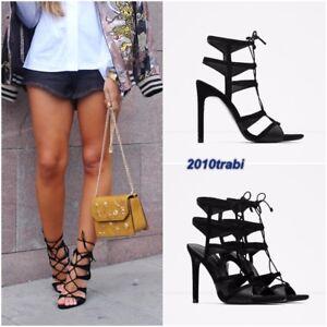 Sandales noires talons Uk hauts grande taille compensᄄᆭe 39 avec 6 taille semelle de Zara Eu ᄄᄂ noir kO8n0Pw
