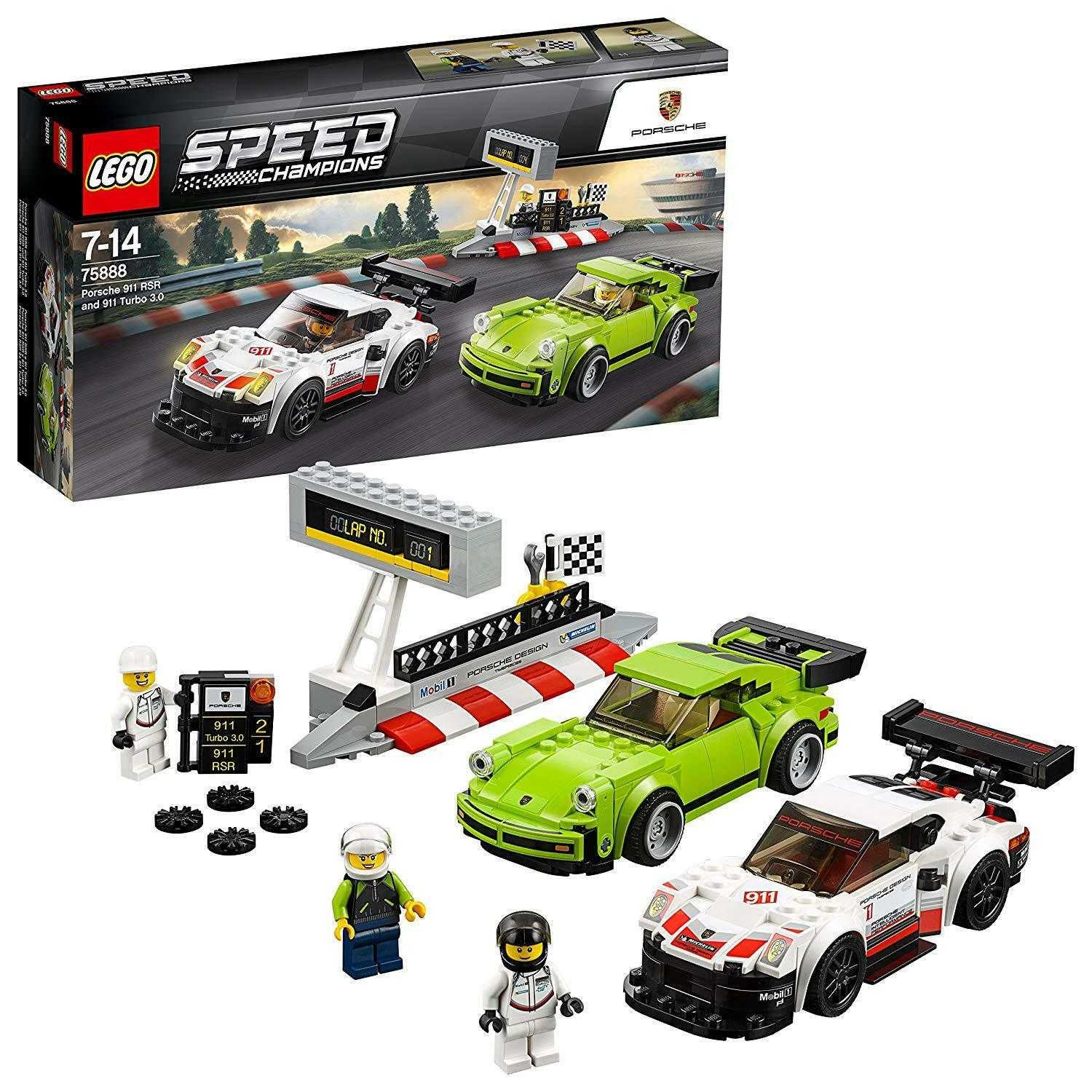 Lego 75888 Speed Champions Porsche 911 RSR and 911 Turbo 3.0 NEW & OVP