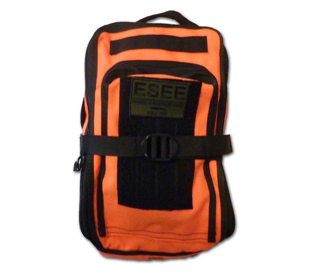 ESEE Supervivencia Bolsa Blaze Naranja Izula Gear Cordura Molle de emergencia Bug Out Pack