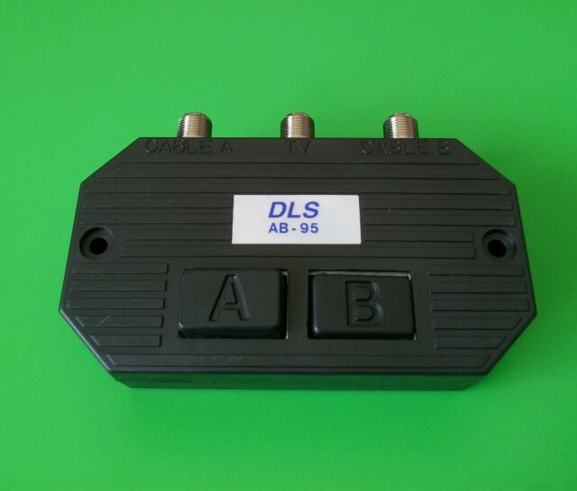 (1PC) Push Button 2 Way A/B Switch (CATV, Satellite,Antenna etc.)