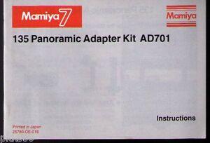MAMIYA-7II-7-PANORAMIC-ADAPTER-KIT-INSTRUCTION-ORIGINAL-PRINT-JAPAN-not-copies