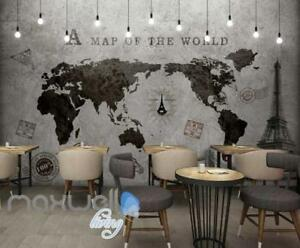 World map black white travel design art wall murals wallpaper decals image is loading world map black white travel design art wall gumiabroncs Gallery