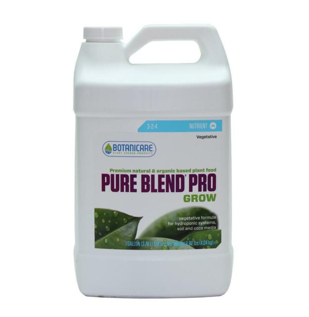 Botanicare PureBlend Pro Grow 1 Gallon - hydroponics garden nutrient
