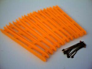 Orange. 10 x 16cm  Standard Pole Winders with 10 Winder Anchors