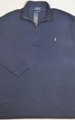 Polo Ralph Lauren Estate Rib Sweater Pullover Blue Half-Zip 4XB 4XL 4X NWT