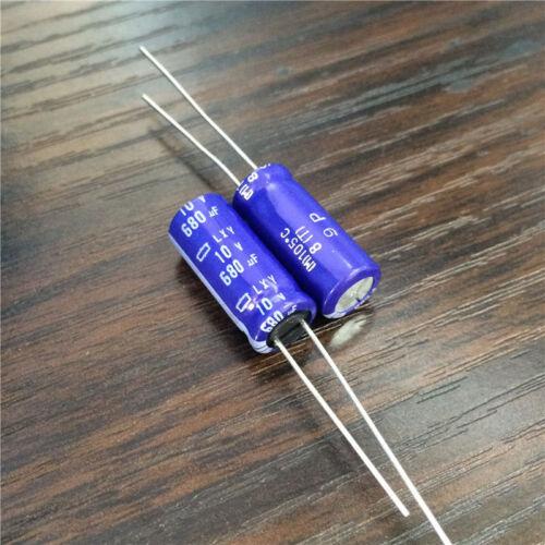 5pcs 10V 680uF 10V NCC LXY 8x20mm Low Impedance Long Life Capacitor