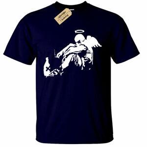 BANKSY-Drunken-Angel-T-Shirt-Tumblr-Street-art-instagram-cool-Mens-gift-tee