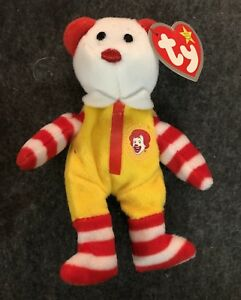 Ty Ronald McDonald Beanie Baby Bear 2004 CONVENTION EXCLUSIVE -New ... f0d80ae2b1d