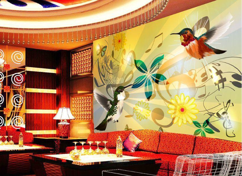 3D Flower Bird Music 572 Paper Wall Print Decal Wall Wall Murals AJ WALLPAPER GB