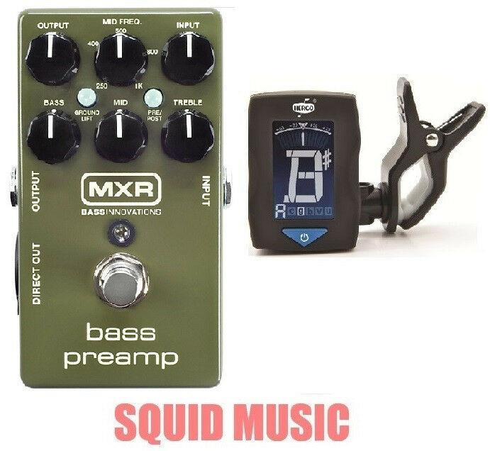 MXR Dunlop M81 Bass Preamp Preamp Preamp Direct Out 3-band EQ ( FREE GUITAR TUNER ) M-81 c0b0fc