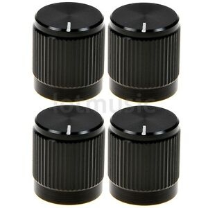 4-Pcs-Aluminium-Knobs-Alloy-14x16mm-18T-Insert-Type-Black