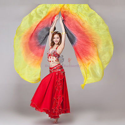 Silk Isis Belly Dance Wings Carnivals Festivals 100/% Silk Design#1