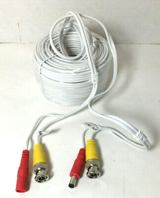 60ft DVR Recorder Wired Power Supply BNC Cable for CCTV Security Camera System