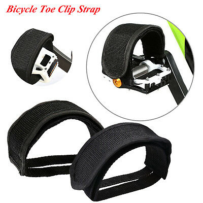 2pcs Cycling Bike Pedal Bands Bike Toe Clip Road Binding Strap Feet Foot AL