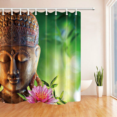 """Buddha Shower Curtain Zen sitting art painting Bathroom Waterproof Fabric 70/"""""""