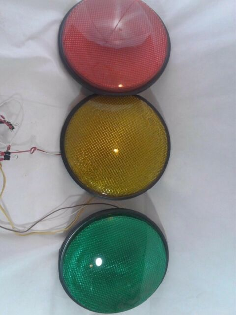 Traffic Light For Sale >> 12 Led Traffic Stop Light Signal Set Of 3 Red Yellow Green Gaskets 120v