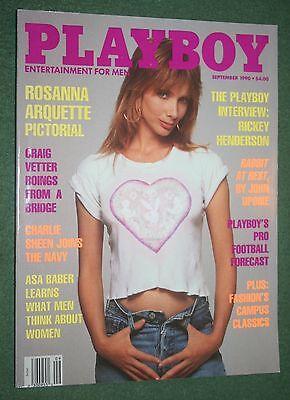 Playboy Sept 1990 Kerri Kendall Rosanna Arquette Desnuda Rickey