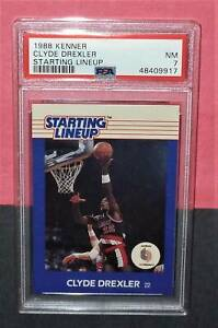 1988 CLYDE DREXLER Kenner Starting Lineup PSA 7 Portland Trailblazers Basketball