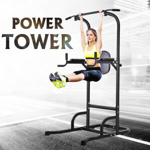 Dip-Station-Pull-Up-Bar-Fitness-Power-Tower-Body-Exercise-Equipment-Machine-OT61