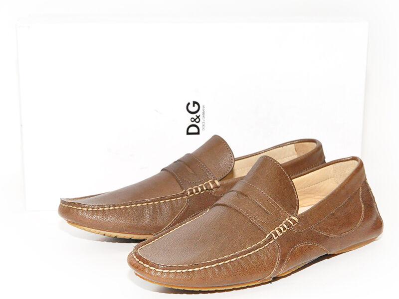Dolce & Gabbana Herrenschuhe Mokassins Schuhe Gr. 43 - 44/5 braun UVP: 420,00