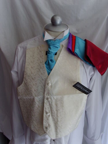With OR Without Cravat and Hankie IVORY Boys Silk Waistcoat-2 Years to 10 Years