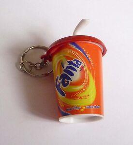 FANTA-Soda-Cup-with-Straw-Limited-Edition-KEYCHAIN-Keyring-Novelty-Coca-Cola