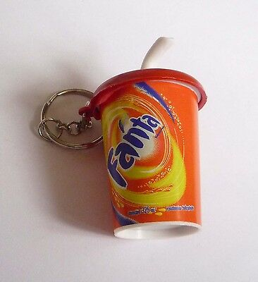 "FANTA ORANGE BOTTLE Fun KEYCHAIN Keyring Novelty Indonesia 3D 2.25/"" Acrylic"