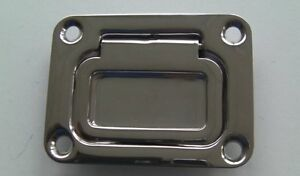 Details about FLUSH LIFT RING LARGE SQUARE / SPRUNG HATCH PULL HANDLE,  STAINLESS, 57mm x 76mm