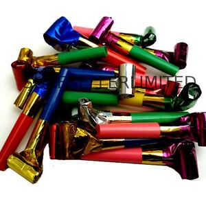 20-x-PARTY-BLOWERS-LOOT-BAG-FILLER-NOISE-TOY-ASSORTED-FOIL-COLOURS-CHRISTMAS