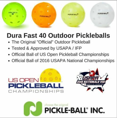 Yellow 12 COUNT Dura Fast 40 Outdoor Pickleball Balls -12 pack Yellow