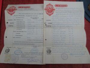 Deux Documents Provenant De La République Du Guatemala -1958-1962 Pour Revigorer Efficacement La Santé