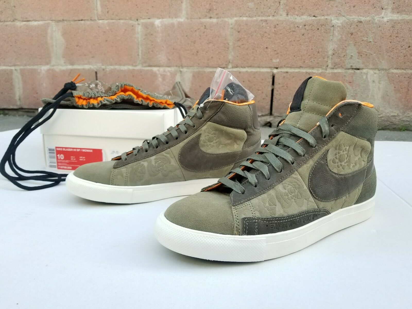 Nike Blazer SP Mowax Hi Men Size 10  Olive Copper orange 718768 208 New DS Rare